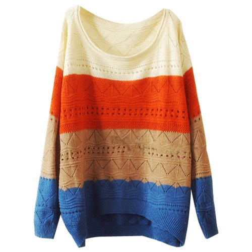 Keral Women Colorway Cut Knitwear Sweater Size Beige Picture