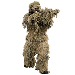 Military Ghillie Yowie Suit 4 Pcs. Airsoft Shooting Digital Desert Camouflage from Mil-Tec