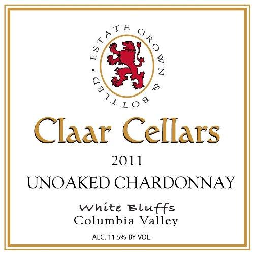 2011 Claar Cellars Estate White Bluffs Vineyard Unoaked Chardonnay 750 Ml