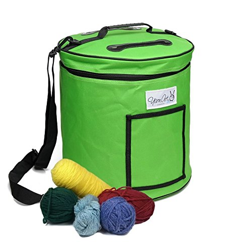 Yarn Storage Bag Tote for Knitting and Crochet and Craft Storage - Large Knitting Project Bag for Yarn Storage and Wool Storage, Lightweight and Portable - Also Makes A Great Gift! (Crochet Organizer Tote compare prices)