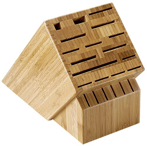Shun 22-Slot Bamboo Knife Storage Block Home & Kitchen