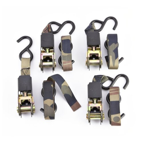 4 - Pk. 8' Camo Tree Stand Ratchet Straps