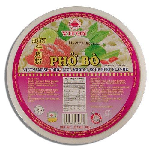 Vifon Pho Bo - Vietnamese Pho Rice Noodle Soup - Beef Flavor 2.4 oz. (Gourmet,Uwajimaya,Gourmet Food,Pasta, Beans & Grains,Noodles & Pasta,Asian Noodles)