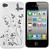 """mumbi Schmetterling Blumen H�lle iPhone 4s 4 Schutzh�lle (Harte R�ckseite) Butterfly wei�von """"mumbi�"""""""