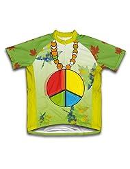 Fall Hippie Short Sleeve Cycling Jersey for Women