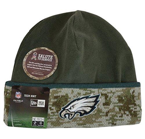 Philadelphia Eagles Men's 2014 Salute to Service New Era On-Field Cuffed Knit Hat (2014 Salute Service compare prices)