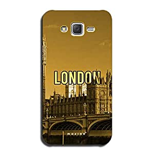 Mozine London Printed Mobile Back Cover For Samsung Galaxy J7