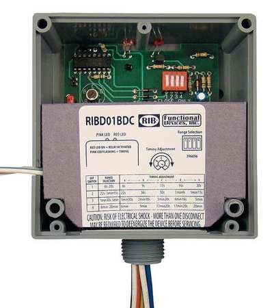 Enclosed Pre-Wired Relay, 20A@277VAC, SPDT