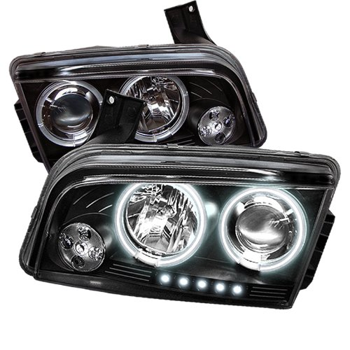 Spyder Auto Dodge Charger Black Ccfl Led Projector Headlight