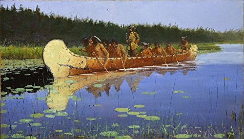 frederic-remington-radisson-and-groseilliers-medium-semi-gloss-black-frame