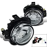Mazda Miata MX5 Chrome Clear Front Bumper Fog Light Pair+Wires+Switch
