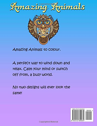 Adult Colouring Book - Amazing Animals