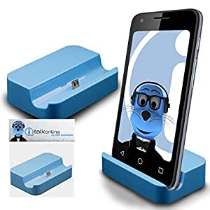 Blue Micro USB Sync & Charge / Charging Desktop Dock Stand Charger For Huawei Ascend Honor 7