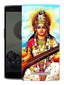 "Humor Gang Saraswati Maa - - Indian Hindu God Printed Designer Mobile Back Cover For ""Oppo R7"" (3D, Matte, Premium Quality Snap On Case)"
