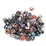 (10) Ten Single Core Troll Style Pure Murano Glass Beads.