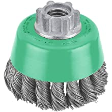 Hitachi 729225 6-Inch Heavy-Duty Carbon Steel Knot Wire Cup Brush