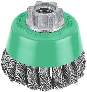 Hitachi 729201 3-Inch Twist Knot Carbon Steel Wire Cup Brush, Multi-Arbor