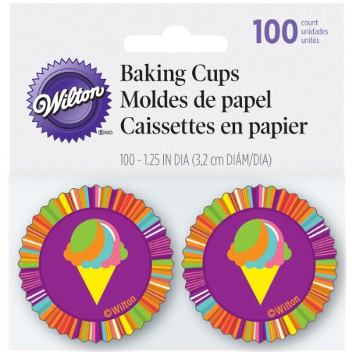 Baking Cups-Summer Pop 100/Pkg-Mini