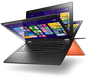Lenovo Yoga 2 13 33,8 cm (13,3 Zoll) Convertible Ultrabook (Intel Core i5 4200U, 2,6GHz, 8GB RAM, HDD 500GB, Intel HD Graphics 4400, Touch, Win 8) clementine orange