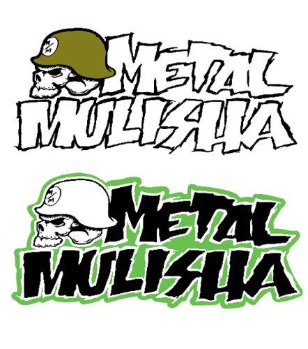 'Adesivo sticker Metal Mulisha Ico noclast 3Set (verde/bianco)