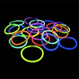 "100 8"" Crown Glow Light Stick Bracelets WHOLESALE PACK"