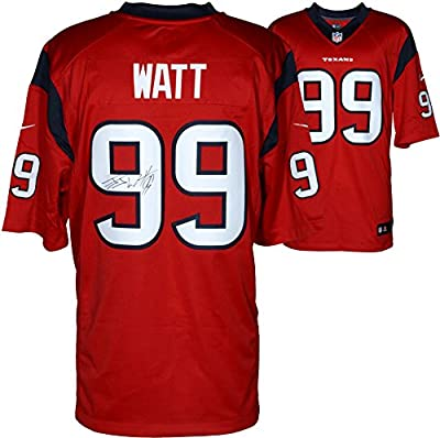 J.J. Watt Houston Texans Autographed Nike Limited Red Jersey - Fanatics Authentic Certified - Autographed NFL Jerseys