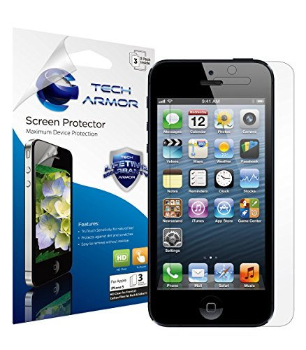 iPhone-5-Screen-Protector-Tech-Armor-High-Definition-HD-Clear-Apple-iPhone-5C-5S-5-SE-Screen-Protector-3-Pack