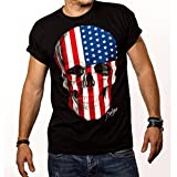 Produktbild von Totenkopf T - Shirt für Herren Amerika USA Flagge Skull
