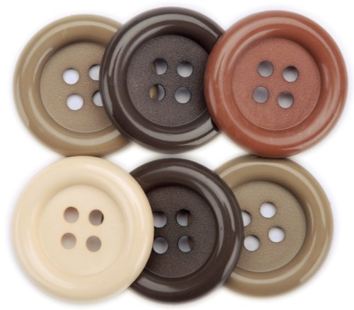 Nature Favorite Findings Big Buttons 6/Pkg 5500BIG-468