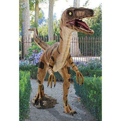 Design Toscano NE110015 Velociraptor, Jurassic-sized Dinosaur Statue, Multicolored