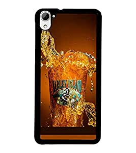 PrintDhaba Beer Glass D-2086 Back Case Cover for HTC DESIRE 826 (Multi-Coloured)