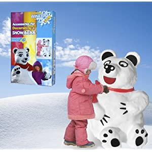 Snow Bear Kit -- Build and Decorate Your Own Bear Made from Snow