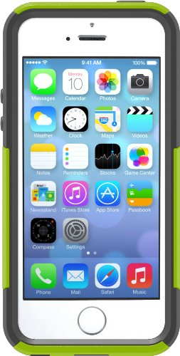 Otterbox [Commuter Series] Apple Iphone 5S Case - Frustration-Free Packaging Protective Case For Iphone - Key Lime (Glow Green/Slate Grey)