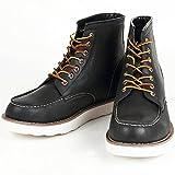 9cmアップ シークレットシューズ シークレットブーツ メンズ 履くだけで背が高くなる靴 メンズブーツ ワークブーツ メンズシューズ kk5-500 ブラック 25.0cm