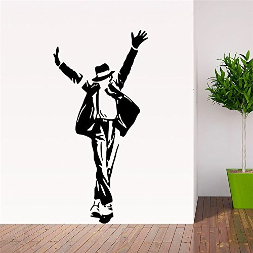 [FairyTeller Forever King Of Pop Michael Jackson Wall Stickers Music Fans Room Decoration 8489. Vinyl Adesivo De Paredes Home Decals Art] (Michael Jackson Decorations)