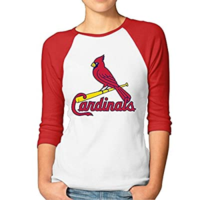 Women's St. Louis Cardinals Logo 3/4 Sleeve Raglan T-Shirt