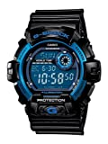 Casio Men's Sport G8900A-1 Black Resin Quartz Watch with Blue Dial