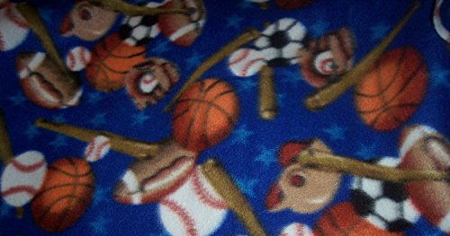 Sports Blanket Football Baseball Basketball Fleece Hand Tied Baby Pet Lap front-928880