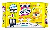 食卓クイックル リビング用洗剤 シート レモンの香り 20枚入