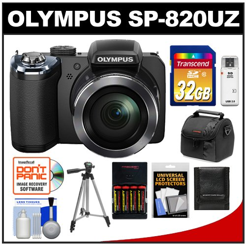 Olympus Stylus SP-820UZ iHS Digital Camera (Black)
