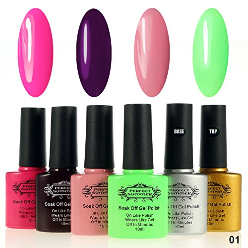 Perfect-Summer-10ml-Colors-Gel-Nail-Polish-with-Clear-Primer-Base-Coat-and-Top-Coat-6-PCS-Salon-Nails-Artistic-Painting-Manicure-Starter-Kits-UV-Led-Soak-Off