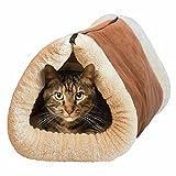 Mixse 2 in 1 Liegematte und Kuschelhöhle für Katzen und...