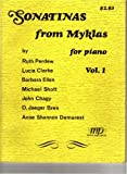 Sonatinas from Myklas for Piano, Vol. 1