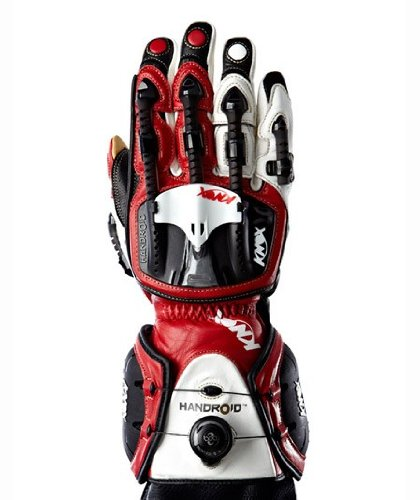 Knox Handroid Motorcycle Gloves S Red