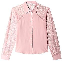 Anaphora Women's Button Down Shirt (55947_Blush_Small)