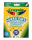 Crayola 03.7509DM - 12 Supertips Filzstifte einfach auswaschbar von Crayola