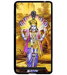 ColourCraft Lord Vishnu Design Back Case Cover for ASUS ZENFONE 6 A600CG