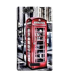 Omnam Telephone Booth Printed Designer Back Cover Case For Micromax Nitro2 E311