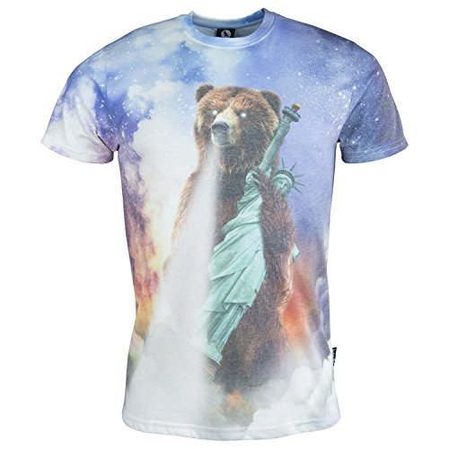 Fearless Illustration NYC Bear Take Down T-Shirt - X Large - 40-42 chest