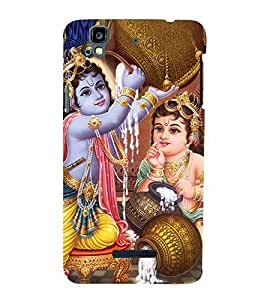 Krishna Balram 3D Hard Polycarbonate Designer Back Case Cover for YU Yureka :: YU Yureka AO5510